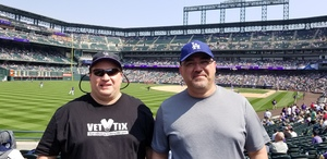 David attended Colorado Rockies vs San Diego Padres - MLB on Aug 23rd 2018 via VetTix