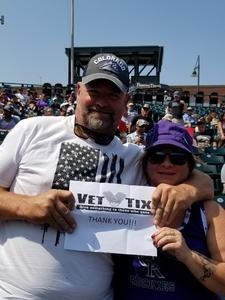 Bradley attended Colorado Rockies vs San Diego Padres - MLB on Aug 23rd 2018 via VetTix