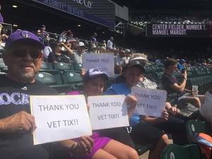 John attended Colorado Rockies vs San Diego Padres - MLB on Aug 23rd 2018 via VetTix