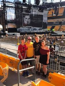 Dan attended Taylor Swift Reputation Stadium Tour on Aug 7th 2018 via VetTix