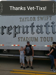 Donald attended Taylor Swift Reputation Stadium Tour on Aug 7th 2018 via VetTix