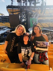 Laken attended Taylor Swift Reputation Stadium Tour on Aug 7th 2018 via VetTix