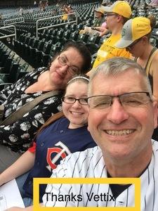 Ron attended Minnesota Twins vs. Detroit Tigers - MLB on Aug 16th 2018 via VetTix
