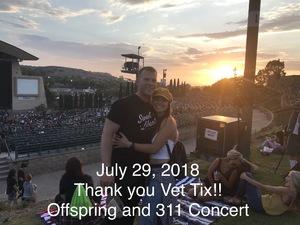 John attended 311 and the Offspring: Never-ending Summer Tour on Jul 29th 2018 via VetTix