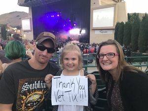 Peter attended 311 and the Offspring: Never-ending Summer Tour on Jul 29th 2018 via VetTix