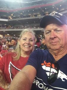 William attended Arizona Cardinals vs. Denver Broncos - NFL Preseason on Aug 30th 2018 via VetTix