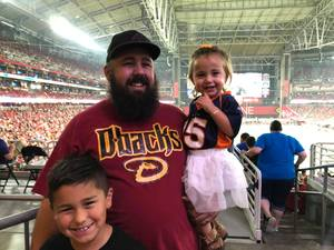 cammron attended Arizona Cardinals vs. Denver Broncos - NFL Preseason on Aug 30th 2018 via VetTix