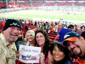 Roy attended Arizona Cardinals vs. Denver Broncos - NFL Preseason on Aug 30th 2018 via VetTix