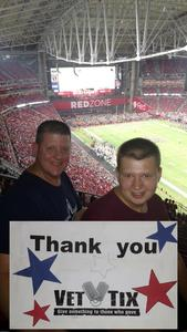 Bruce attended Arizona Cardinals vs. Denver Broncos - NFL Preseason on Aug 30th 2018 via VetTix