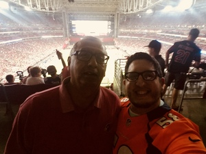 Tomas T. attended Arizona Cardinals vs. Denver Broncos - NFL Preseason on Aug 30th 2018 via VetTix