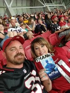 Bobby attended Arizona Cardinals vs. Denver Broncos - NFL Preseason on Aug 30th 2018 via VetTix