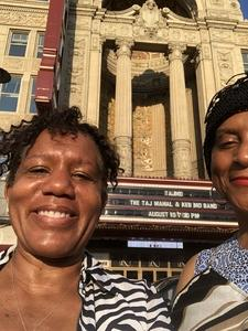 Lynda attended The Taj Mahal and Keb' Mo' Band on Aug 10th 2018 via VetTix