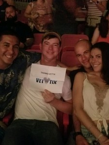 Santino attended Brad Paisley Tour 2018 - Country on Aug 30th 2018 via VetTix