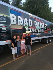 Brian attended Brad Paisley Tour 2018 - Country on Aug 30th 2018 via VetTix