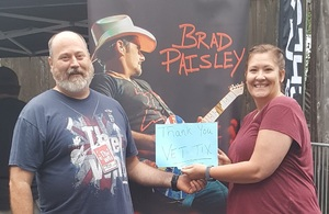Jason attended Brad Paisley Tour 2018 on Aug 11th 2018 via VetTix
