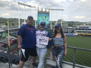 Amanda attended Kansas City Royals vs. Chicago Cubs - MLB on Aug 7th 2018 via VetTix