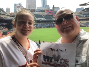 Thomas attended Minnesota Twins vs. Oakland Athletics - MLB on Aug 26th 2018 via VetTix