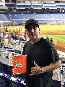 Alfredo attended Miami Marlins vs. Atlanta Braves - MLB on Aug 26th 2018 via VetTix