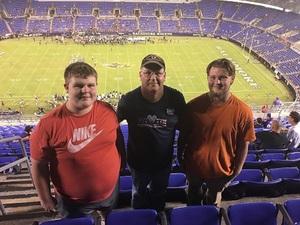 Robert attended Baltimore Ravens vs. Los Angeles Rams - NFL on Aug 9th 2018 via VetTix