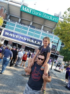 Lisa M attended Baltimore Ravens vs. Los Angeles Rams - NFL on Aug 9th 2018 via VetTix