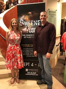 Zach attended Sweeney Todd Presented by Herberger Theater and Arizona Broadway Theatre - Thursday on Sep 13th 2018 via VetTix