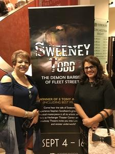 RoseAnne attended Sweeney Todd Presented by Herberger Theater and Arizona Broadway Theatre - Thursday on Sep 13th 2018 via VetTix