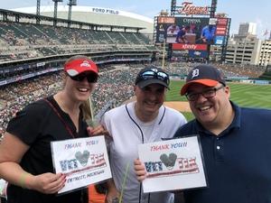 Jeffrey attended Detroit Tigers vs. Minnesota Twins - MLB on Aug 12th 2018 via VetTix