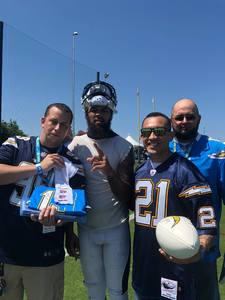 Anthony attended Los Angeles Chargers VIP Training Camp Experience Provided by Ticketmaster on Aug 13th 2018 via VetTix