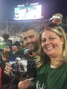Brian attended Michigan State Spartans vs. Utah State Aggies - NCAA Football on Aug 31st 2018 via VetTix
