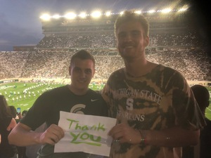 William attended Michigan State Spartans vs. Utah State Aggies - NCAA Football on Aug 31st 2018 via VetTix