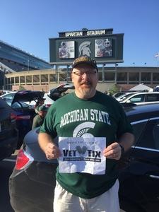 Chris attended Michigan State Spartans vs. Utah State Aggies - NCAA Football on Aug 31st 2018 via VetTix