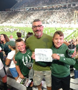 Thomas Vega attended Michigan State Spartans vs. Utah State Aggies - NCAA Football on Aug 31st 2018 via VetTix