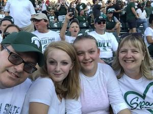 Kenneth attended Michigan State Spartans vs. Utah State Aggies - NCAA Football on Aug 31st 2018 via VetTix