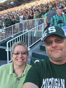 Douglas attended Michigan State Spartans vs. Utah State Aggies - NCAA Football on Aug 31st 2018 via VetTix