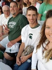 Danial attended Michigan State Spartans vs. Utah State Aggies - NCAA Football on Aug 31st 2018 via VetTix