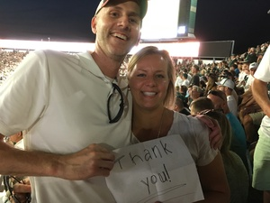 Danny attended Michigan State Spartans vs. Utah State Aggies - NCAA Football on Aug 31st 2018 via VetTix