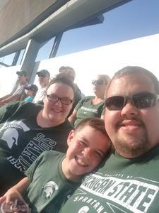 RJ attended Michigan State Spartans vs. Utah State Aggies - NCAA Football on Aug 31st 2018 via VetTix