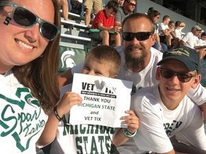 Landon attended Michigan State Spartans vs. Utah State Aggies - NCAA Football on Aug 31st 2018 via VetTix