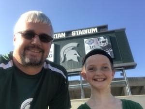 Josh attended Michigan State Spartans vs. Utah State Aggies - NCAA Football on Aug 31st 2018 via VetTix