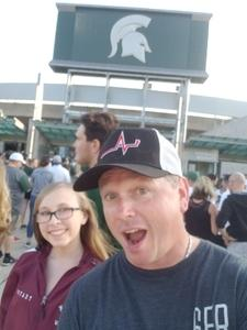 CJ attended Michigan State Spartans vs. Utah State Aggies - NCAA Football on Aug 31st 2018 via VetTix
