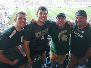 Thomas attended Michigan State Spartans vs. Utah State Aggies - NCAA Football on Aug 31st 2018 via VetTix