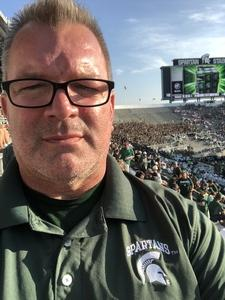 SGM Bishop attended Michigan State Spartans vs. Utah State Aggies - NCAA Football on Aug 31st 2018 via VetTix