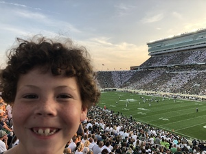 Jon attended Michigan State Spartans vs. Utah State Aggies - NCAA Football on Aug 31st 2018 via VetTix