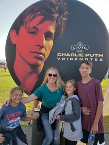 Tara attended 2018 Honda Civic Tour Presents Charlie Puth Voicenotes on Aug 15th 2018 via VetTix