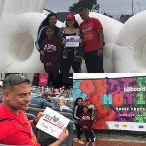 1SG.Manuel A attended Billboard Hot 100 Music Festival - Sunday Pass on Aug 19th 2018 via VetTix