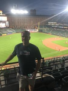 Jackie attended Baltimore Orioles vs. Oakland Athletics - MLB on Sep 12th 2018 via VetTix