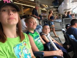 Chelsea attended New York Yankees vs. Tampa Bay Rays - MLB on Aug 16th 2018 via VetTix