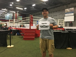 Gregory attended Thai Championship Boxing - 17 - Presented by Cagezilla on Sep 15th 2018 via VetTix