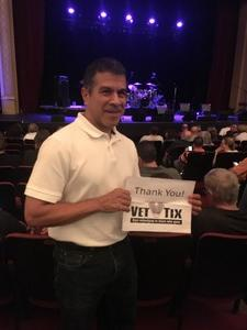 Carlos attended Jefferson Starship on Sep 14th 2018 via VetTix