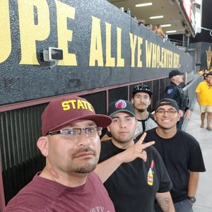Jacob attended Arizona State University Sun Devils vs. UTSA - NCAA Football on Sep 1st 2018 via VetTix